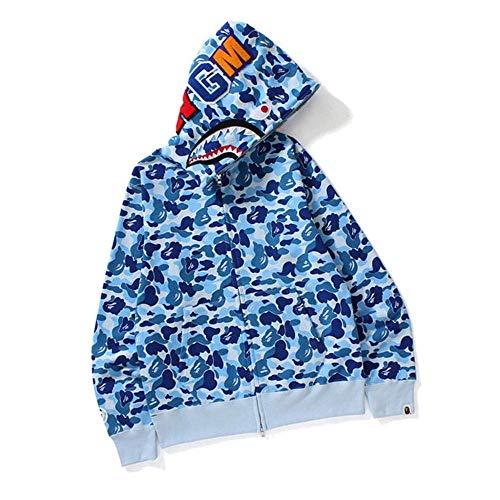 Bape Shark Hoodie, lustiger 3D-Druck, langärmlig, mit Sweatshirt, Pink, M