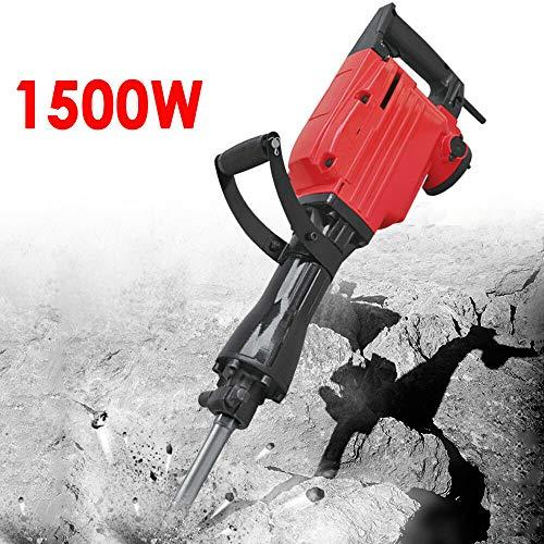 Martillo de demolición Martillo de demolición oukaning 1500W incl. Accesorios Cincel Martillo–Martillo de cincel Rojo Hammers