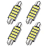 42MM 578 LED Festoon Bulbs, Extremely Bright 15smd 2835 Chipset 212-2 Led Car Bulbs, DE3425 DE3423 Replacement Bulbs for Car Interior Dome Map Courtesy Lights 1.64 inches 211-1 569 Led Car Bulbs,4PCS