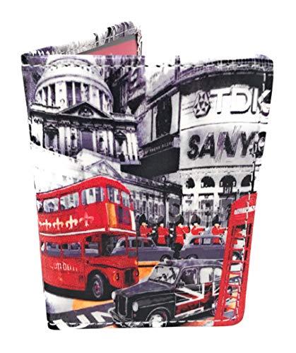 Tarjetero Funda Abono Transporte Funda Documentación Doble Ventana Estampados Ciudad (London)