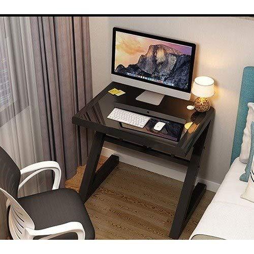 Sencilla tabla moderna del escritorio del ordenador portátil de escritorio de cristal templado mesa de estudio tabla superior PC de casa escritorios escritorio del ordenador portátil de trabajo para C