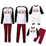 Writtian 2020 - Pijama familiar de Navidad con papel higiénico y diseño de Navidad blanco 12 Meses