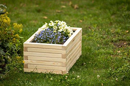 Larisa Blumentopf, Blumenkasten, Pflanzkasten auf Holz ! HIT 40 bis 120 cm !!! (70x40x30,5)
