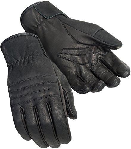 TourMaster Men's Nomad Cruiser Motorcycle Gloves (Black, Large)