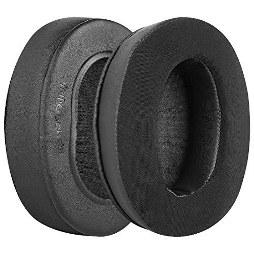 Geekria Comfort Cooling Gel-Infused Cloth Almohadillas de Repuesto para Auriculares ATH M50X M40X M70X MSR7 MSR7NC MSR7BK MSR7GM Headphone, Auriculares Almohadillas(Extra Thick)