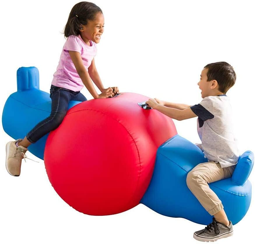HearthSong Heavy-Duty Vinyl Giant Seesaw Max 85% OFF Inflatable Rocker Very popular with