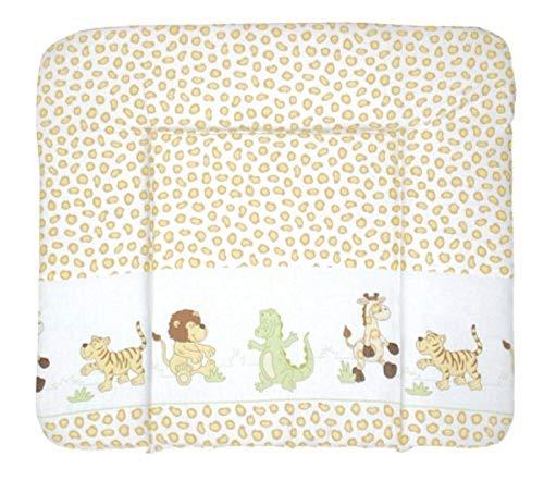 roba Wickelauflage Safari, 85 x 75 cm, weiche Wickelunterlage, Baby Wickeltischauflage PU beschichtet