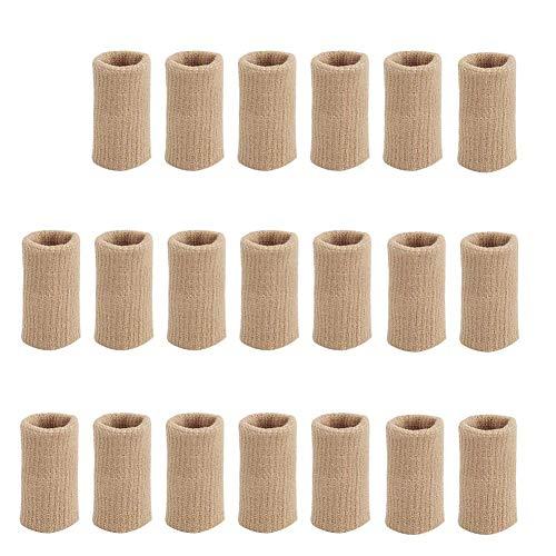 BestTas 20x Fingerbandagen Fingerschutz zum Überdehnen, elastischer Fingerschutz gegen Arthritis Elastisch, Unterstützung für Arthritis und Sport (nackt)