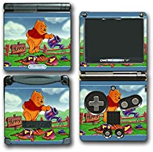 Winnie the Pooh Hunny Honey Bear Video Game Vinyl Decal Skin Sticker Cover for Nintendo GBA SP Gameboy Advance System