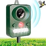 Repellente per Gatti, Ultrasuoni Piccioni IP66 Impermeabile Regolabile Repeller Animali Ultrasound Repellente con Batteria a Energia Solare Adatto agli Ambienti Aperti