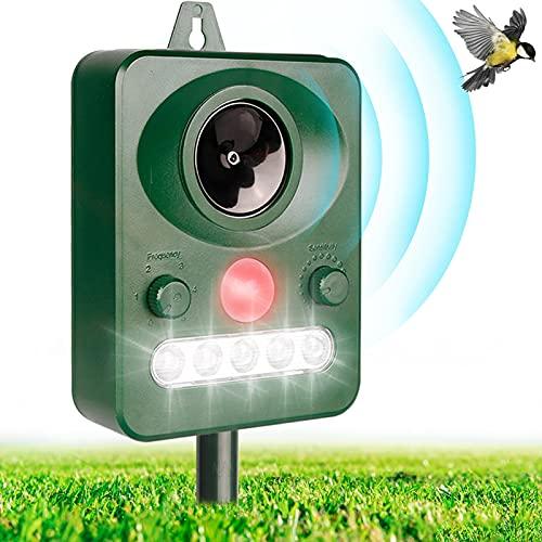Repellente per Gatti, Ultrasuoni Piccioni IP66 Impermeabile Regolabile Repeller Animali Ultrasound...