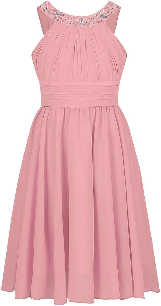 Choomomo Kids Flower Girls Dress Max 81% OFF Rhinestone 100% quality warranty! Ban Sleeveless Skirt