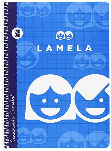 Lamela 07003 - Cuaderno Básico con Espiral, 40 hojas, 3 mm, Tamaño A5, Colores/Modelos Surtidos