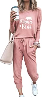 MSONWANY Women's 2 Piece Outfit Activewear Casual Long T-Shirts Pants Workout Tracksuit Sportswear Sweatsuits