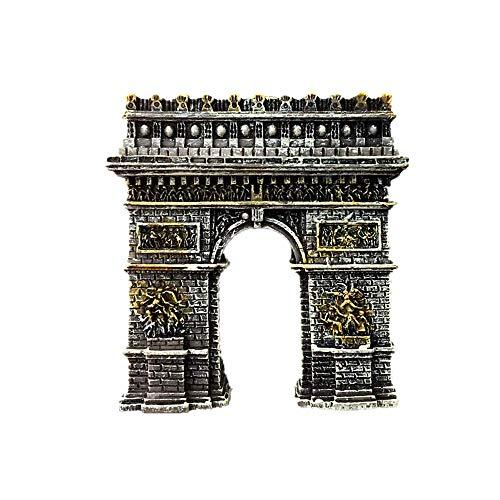 Arc de Triomphe France Souvenir de Voyage 3D Aimant de Réfrigérateur Maison et Cuisine Décor Polyrésine Artisanat Réfrigérateur Collection Aimant