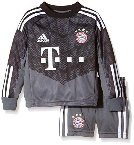 adidas Camiseta Portero para Niños y pantalón de Portero FC Bayern Goal Keeper Mini Kit, Infantil, Torwarttrikot und Torwarthose FC Bayern Goalkeeper Mini Kit, Onix/Black/White, 110