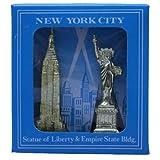 BVC Recuerdo Nueva York - Estatua de la Libertad y Empire State Building.