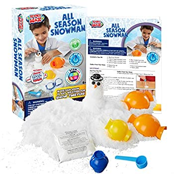 Be Amazing! Toys All Season Snowman Science Kit- Build A Snowman - Faux Snow Kit for Kids- Reusable Snow Craft - Stem Activity for Boys Girls - Molds Carrot Hat Scarf Included - Ages 4+
