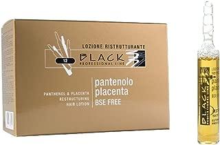 Black Placenta Panthenol Ampoules Hair Loss Serum 12x10ml