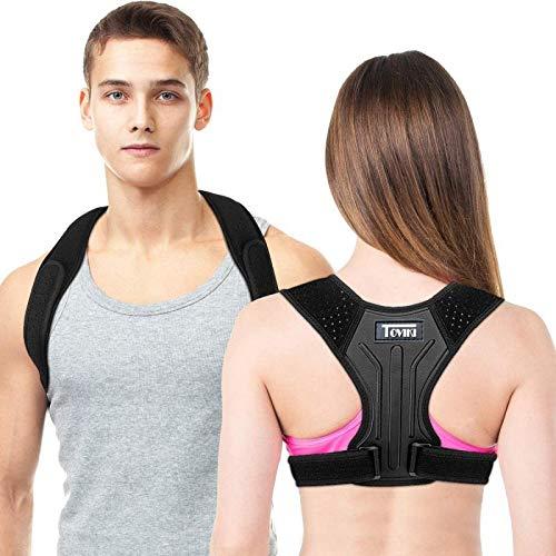 Correttore Postura Supporto Fascia Traspirante Regolabile Posturale Correzione Allevia il Dolore alla Schiena al Collo e alle Spalle per Uomo e Donna