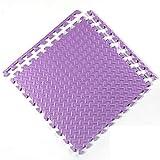 E.enjoy-Suelos de Gimnasio Enclavamiento Soft Kids Baby EVA Foam Activity Juego Mat Mat Baldosas (Color : Purple, Size : 48 Piece)