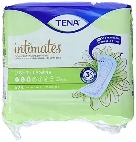 "TENA Intimates Ultra Thin Light Long Female Incontinent Pad Long Length 10"" L 54344, 144 Ct"