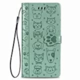 Unichthy Sony Xperia L4 Case with Cats Dogs On, Cute Wallet