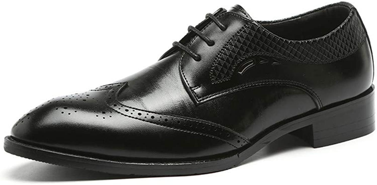 Men Dress shoes Brogue Wedding Flats Leather Oxfords Formal Party Business shoes