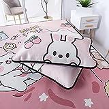 Hwjmy Fundas de almohada, un par de almohadas para estudiantes solteros adolescentes románticos de verano fresco y seda de hielo (color: 4, tamaño: 48 x 74 cm)