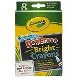 Crayola Dry-Erase Bright Crayons, 8 Count