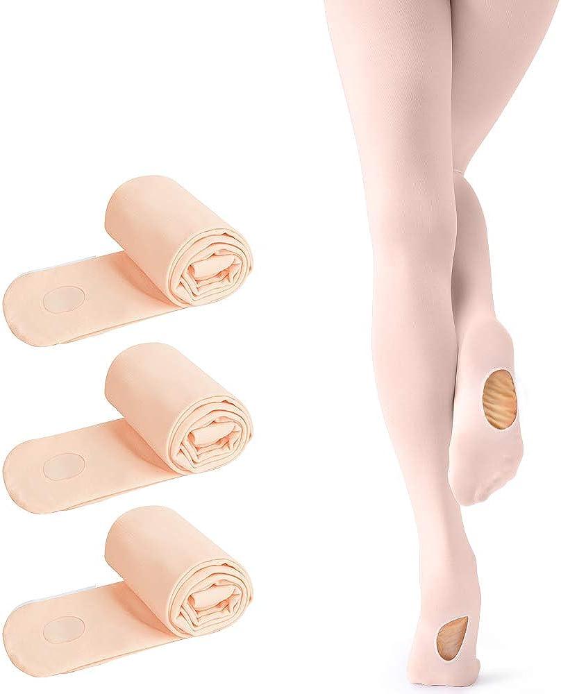 tanzdunsje Medias de Ballet y Danza Convertible para Ni/ña y Adultos