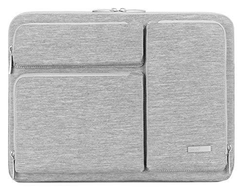 Lacdo 360° Protective Laptop Sleeve Case for 15.6 Inch Acer Aspire 5, E 15, Predator Helios 300, Flagship/ASUS VivoBook 15 / Dell Inspiron 15 / Lenovo Ideapad 330 / Pavilion 15, Computer Bag, Gray