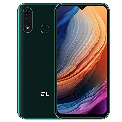 EL D60 PRO Smartphone ohne Vertrag, Android 10 Günstige 4G Handy 3GB+32GB 6,1 Zoll 4000mAh Akku Verdreifachen Kamera 13MP Dual SIM, 3in1 KartensteckplatzGesichtsentsperrung/Fingerabdruck-ID