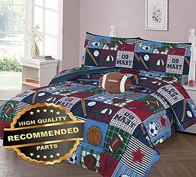 Gatton GO Team GO Comforter Bed Sheet Set Window Panel Valance for Kids Teens Size | Quilt Style QLTR-291267484