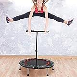 AYNEFY Trampolin mit Handlauf,Falten Outdoor-Sport-Trampolin Trampolin für Fitness Gartentrampolin...