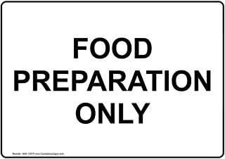 food preparation signs