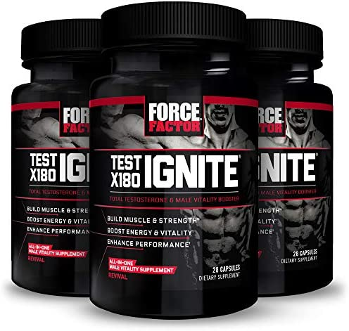 Test X180 Ignite Total Testosterone Booster for Men with Fenugreek Seed and Green Tea Extract product image