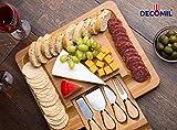 decomil- bambú y de corte de queso carne Servir Junta con cubiertos Set