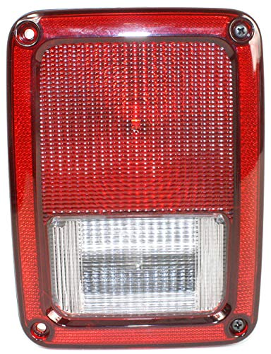 Evan-Fischer Tail Light Assembly Compatible with 2007-2017 Jeep Wrangler (JK) Passenger Side
