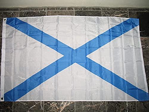 'N/A' Bandera de Rusia de 3 x 5 pulgadas, con ojales de bandera de Rusia Naval de 3 x 5 pulgadas, resistente a los rayos UV de alta calidad, doble costura de lona.