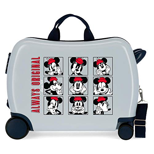 Disney Good Vives Only Kinderkoffer, Blau, 50 x 38 x 20 cm, starr, ABS, seitlicher Zahlenkombinationsverschluss, 34 l, 3 kg, 4 Handgepäckträger