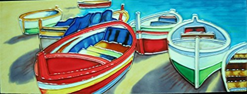 Keramik 6/x 40,6/cm YH-Arts Merlot Fliesen Mehrfarbig