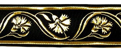 10m Keltische Borte 35mm Breite schwarz-gold von 1A-Kurzwaren 35070-swgo