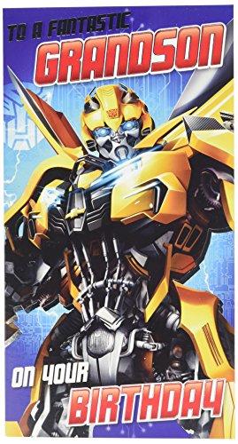 Tarjeta de cumpleaños para nieto de Transformers