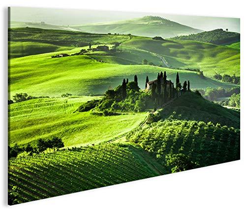 islandburner Bild Bilder auf Leinwand Toskana V6 Landschaft in Italien 1K XXL Poster Leinwandbild Wandbild Dekoartikel Wohnzimmer Marke