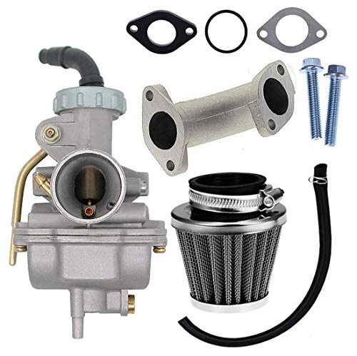 PZ20 Carburetor with Air Filter For Kazuma Baja 110cc 125cc TaoTao 110B NST SunL Chinese Quad 4 stroke ATV 4 wheeler Go Dirt Bike Honda CRF50F XL75 CRF80F XR50R 20mm Carburetor by KAKO