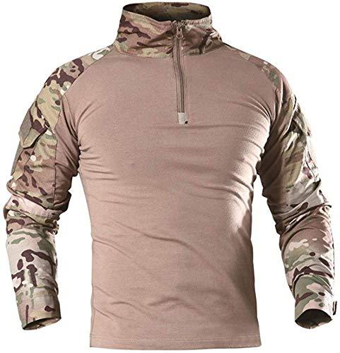 AKARMY Men's Military Shirt, Long Sleeve Tactical Shirt,...