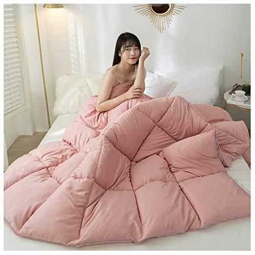 YRRA Feather Cotton Comforter, Cotton Winter Quilt Lightweight Fluffy Bedding, Winter Soft Warm Bed Quilt,Pink,150x200cm(3kg)
