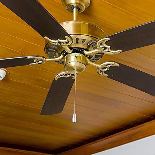Lianganan 4 piezas de la cadena de ventilador de techo tira la cadena de tirón de cadena de tirón de madera para la cadena de ventilador de la lámpara de la luz del techo (color plateado y de madera)