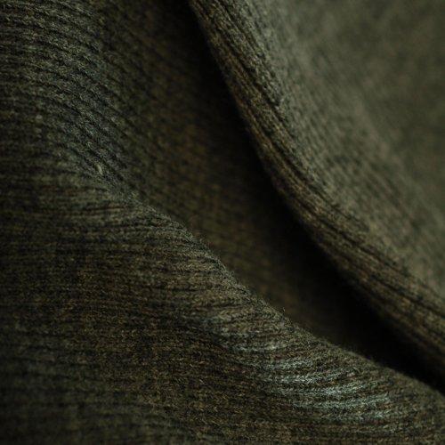 Jersey Tissu en tricot côtelé, 2 x 1 Structure en tricot 80 cm large, lavable en en tricot, une excellente durabilité et porter propriétés, de poids léger à moyen, gris charbon, 10 Meters
